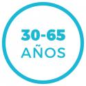 entre 30 y 65